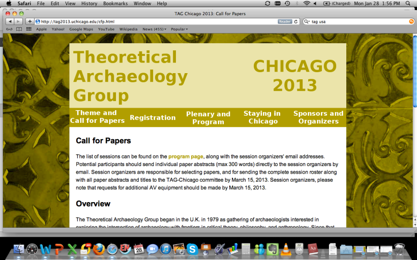 Screenshot of TAG USA 2013 conference homepage. Hope you can join us!