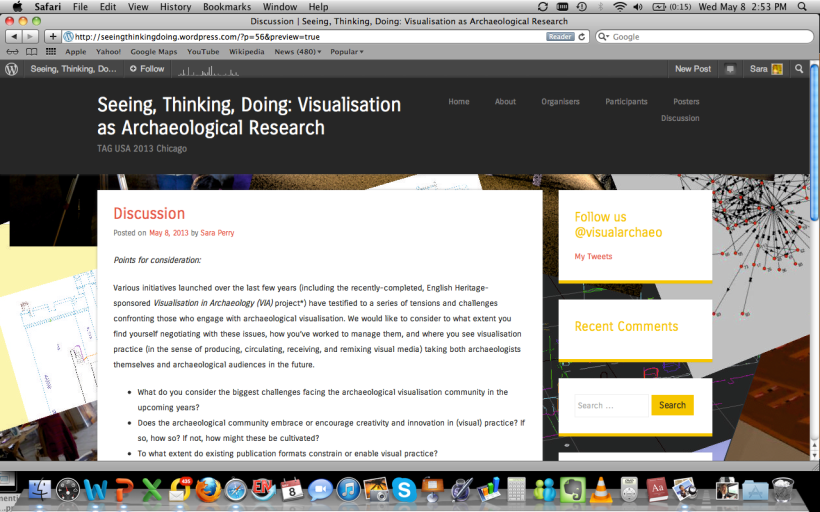 Visit our session blog at http://seeingthinkingdoing.wordpress.com