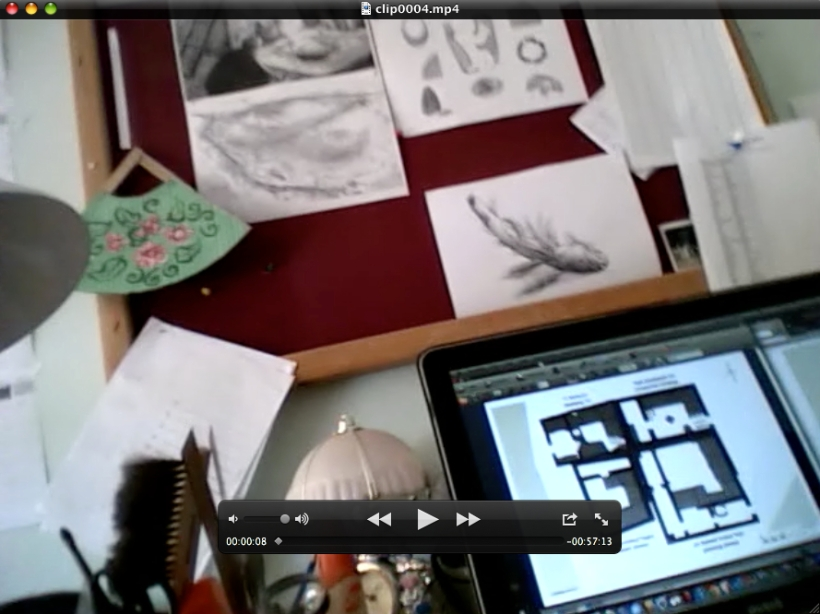 "Still frame from a video interview used to inform ""Crafting knowledge with (digital) visual media in archaeology"""