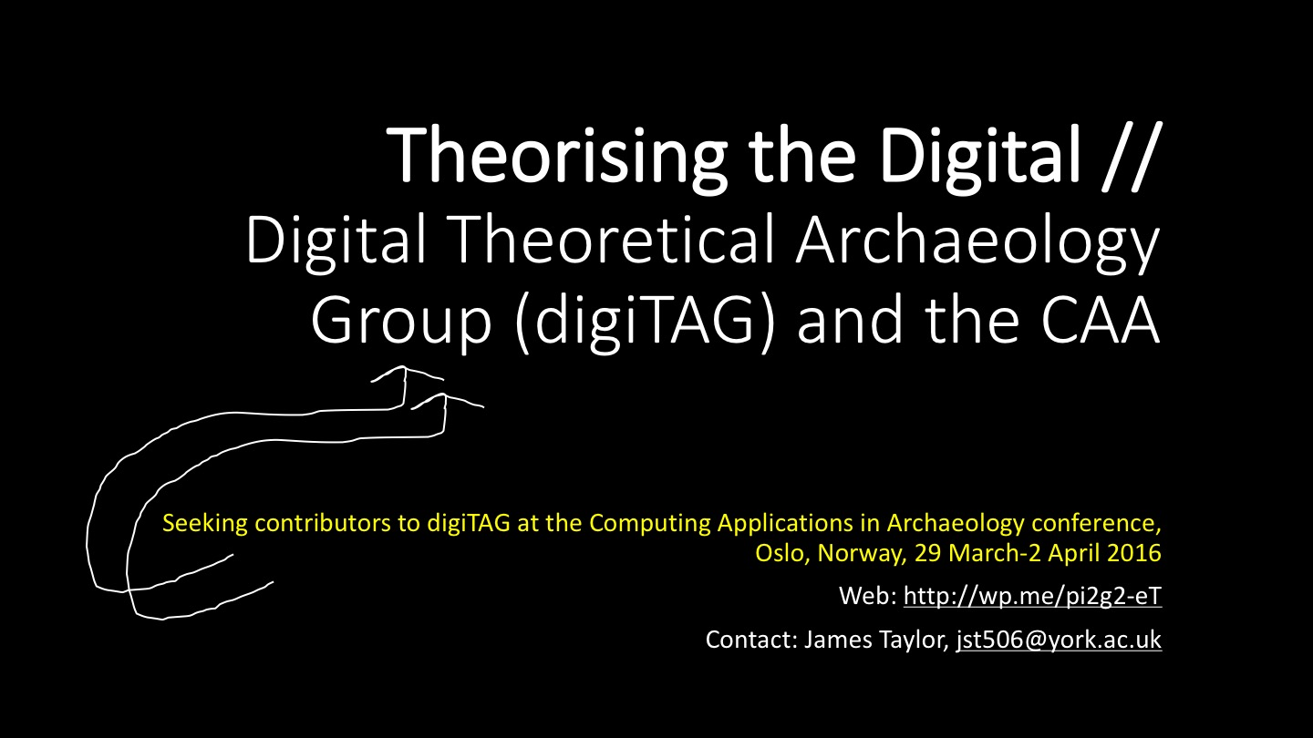 Join us to theorise the digital: Announcing the first digiTAG