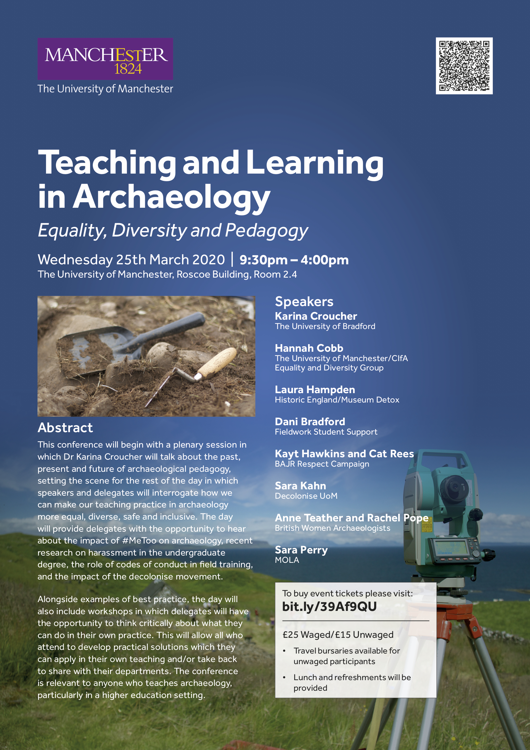 Teaching and Learning in Archaeology 25th March 2020